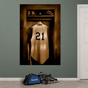 Roberto Clemente Locker Mural Fathead Wall Decal